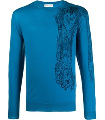 etro regular-fit paisley pullover - blue