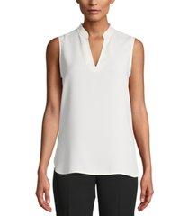 anne klein split-neck blouse
