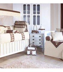quarto completo padroeira baby artesanal marrom