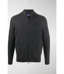 drumohr zip-up wool cardigan