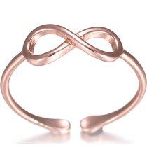anelli classici a nodo infinito anello in oro rosa dorato semplice abbigliamento casual moda anelli aperti per le donne