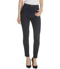 frame ali high waist cigarette skinny jeans, size 32 in grove streetdnu at nordstrom