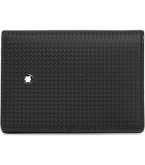 men's montblanc extreme 2.0 leather rfid card case - black