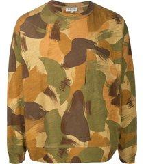 ymc camouflage print sweatshirt - green