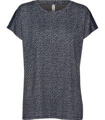 sc-elizza t-shirts & tops short-sleeved blå soyaconcept