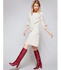 sukienka z marszczonymi rękawami ashell