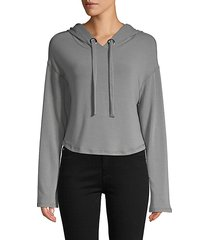 shirttail drawstring hoodie