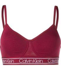 calvin klein underwear logo tape padded bralette - red