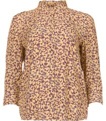 blouse met bloemenprint catty  beige
