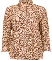 blouse met bloemenprint catty  beige
