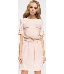 sukienka mini odcinana w pasie
