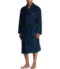 polo ralph lauren men's microfiber plush bath robe
