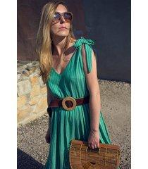sukienka hunny bunny maxi zielony