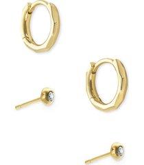 women's kendra scott addison set of 2 hoop & stud earrings