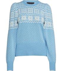 vespa winter stickad tröja blå designers, remix