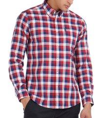 barbour men's gingham tailored shirt