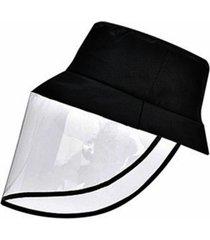 protectores plegables de pvc mascara tapas antivaho gota de polvo de saliva sombreros de pescador de cara completa