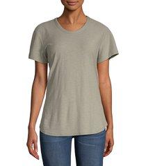 james perse crewneck cotton modal t-shirt - asphalt - size 1 (s)