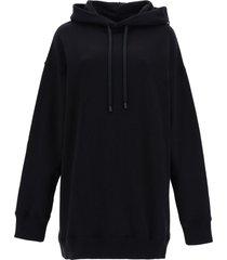 maison margiela numbers logo maxi hoodie