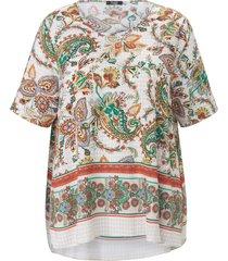 blouse korte mouwen van frapp wit
