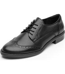 zapato mujer hanelli negro flexi
