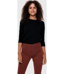 sweater jacqueline de yong negro - calce regular