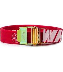 off-white industrial logo belt - red