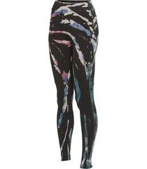 hard tail women's cargo pocket high rise yoga leggings - berry black tie dye large