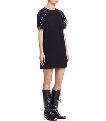 cotton snap mini dress