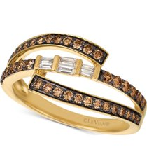 le vian baguette frenzy diamond ring (1/2 ct. t.w.) in 14k gold