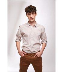 camisa beige prototype linen