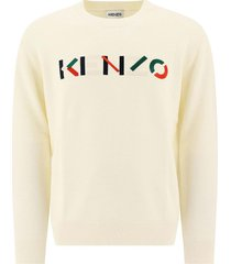 kenzo kenzo pullover with embroidered logo
