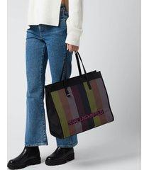karl lagerfeld women's k/skuare large biarritz tote bag - multi