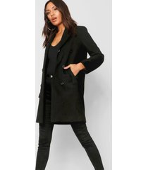 double breasted coat, black