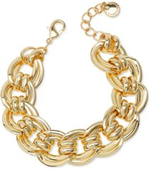 charter club gold-tone large chain link bracelet, created for macy's
