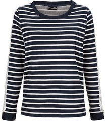 sweatshirt dress in marinblå::vit