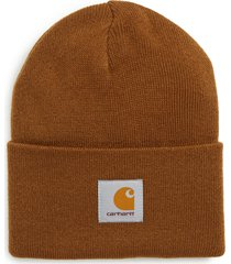 men's carhartt work in progress watch hat - brown