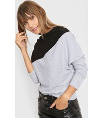 sweater gris destino collection bicolor