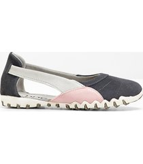 ballerina in pelle (grigio) - bpc bonprix collection