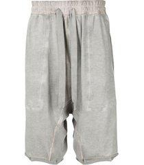 isaac sellam experience drop-crotch drawstring shorts - grey