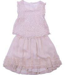 chloé pale pink silk dress