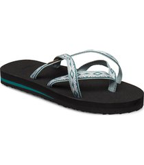 w olowahu shoes summer shoes flat sandals grå teva