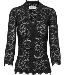 t-shirt 3/4 s gebreide trui cardigan zwart rosemunde