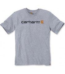 carhartt t-shirt men core logo s/s heather grey-m