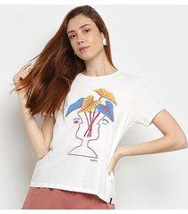 camiseta cantão vaso feminina