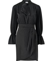 klänning viasta l/s tie neck dress