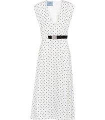 prada polka-dot belted dress