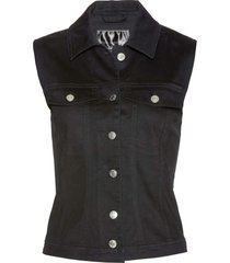 gilet in jeans (nero) - bpc selection