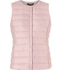 dunväst pearl sheen hoziontal quilt vest