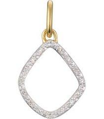 gold riva kite diamond pendant charm diamond